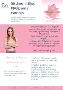 dnevni SIJoc PROgram s Patricijo obrazne joge trening telesa likanje podbradka gubic