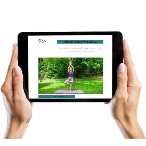 jutranja vadba s patricijo cv joga obraza likanje gubic prirocnik